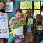 children celebrating dyslexia awareness