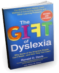 Book Cover, Gift of Dyslexia